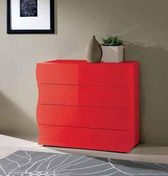 Commode adulte design laquée 4 tiroirs ASTERIA, 4 coloris au choix, Commode adulte design -