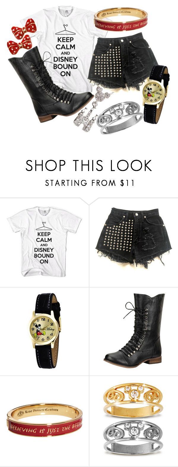 """""""Keep Calm and Disneybound on"""" by princesschandler ❤ liked on Polyvore featuring Disney and Disney Couture"""
