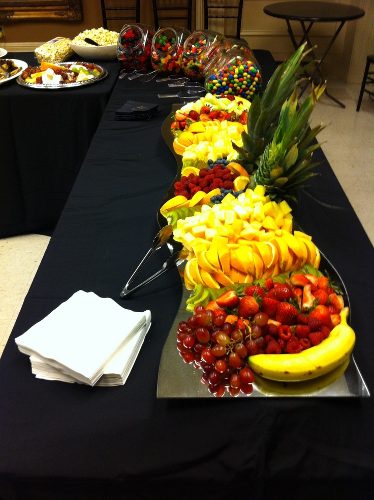 Fruit platter for a catering event