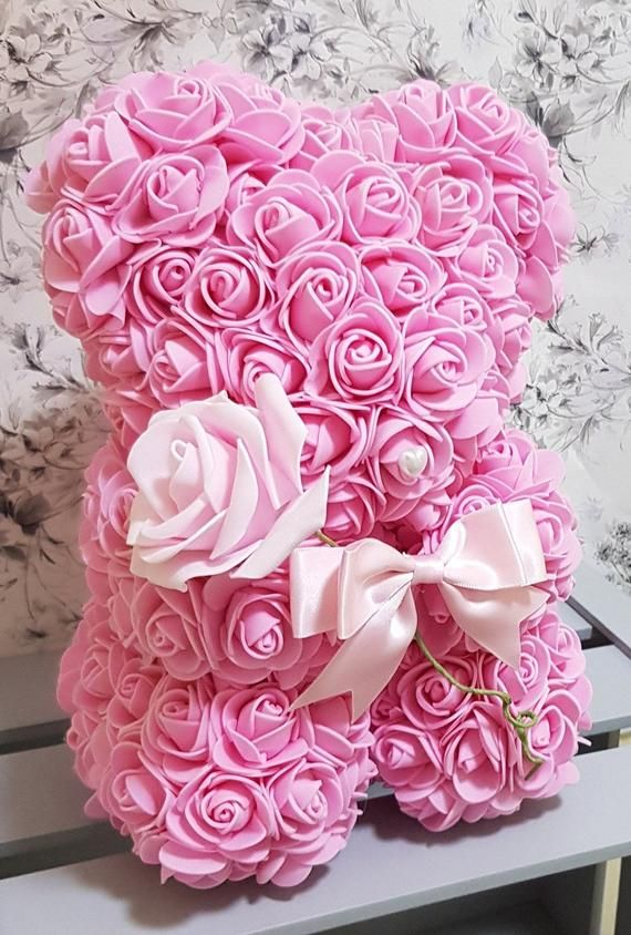 Mothers Day Pink Forever Rose Teddy Bear Bear With Rose Rose Flower Bear Gift For Girlfriend In 2020 Girlfriend Anniversary Gifts Rose Flower Forever Rose