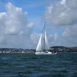 Sail boat at Catch and Cook with Simon Hulstone in Torquay