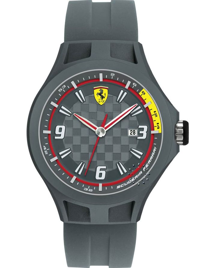 FERRARI Pit Crew Grey Rubber Strap Τιμή: 99€ http://www.oroloi.gr/product_info.php?products_id=35038