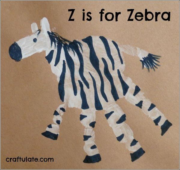Z is for Zebra.... Animal Handprints
