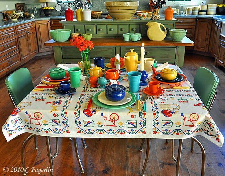 Fiesta Ware And A Vintage Kitchen.