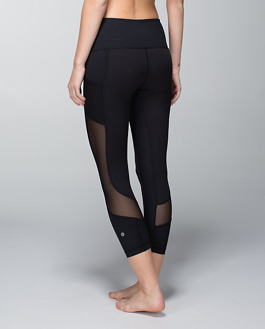 Lululemon Yoga Pants Sheer Seek The Heat Crop - L...