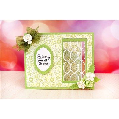 Tattered Lace Essentials Decorative Oval and Oval Lattice Dies (356561) | Create and Craft