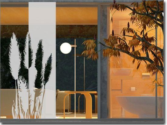 Sichtschutz Pampasgras 3 | Fensterfolie für zu Hause