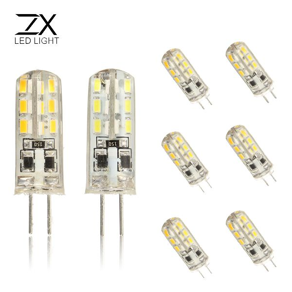 ZX G4 1.5W 24 SMD 3014 LED Silica Cold White Warm White 360 Degree Light Lamp Bulb DC12V
