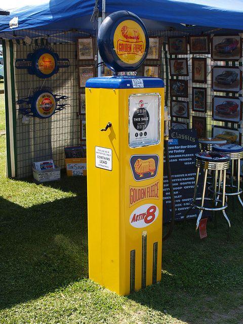 Golden Fleece petrol (gas) pump. Australia