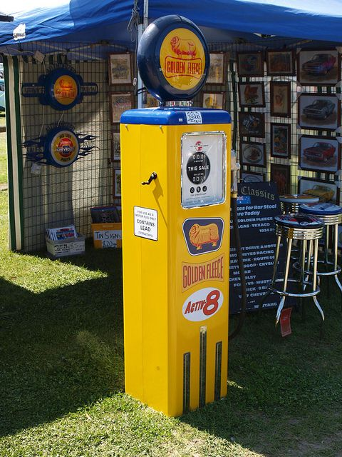 Golden Fleece petrol (gas) pump. Australia
