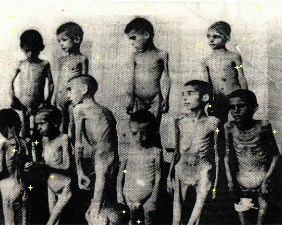 Romani children in Auschwitz, victims of medical experiments. Poor babies.