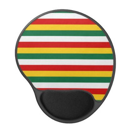 Suriname flag stripes lines pattern gel mouse pad - pattern sample design template diy cyo customize