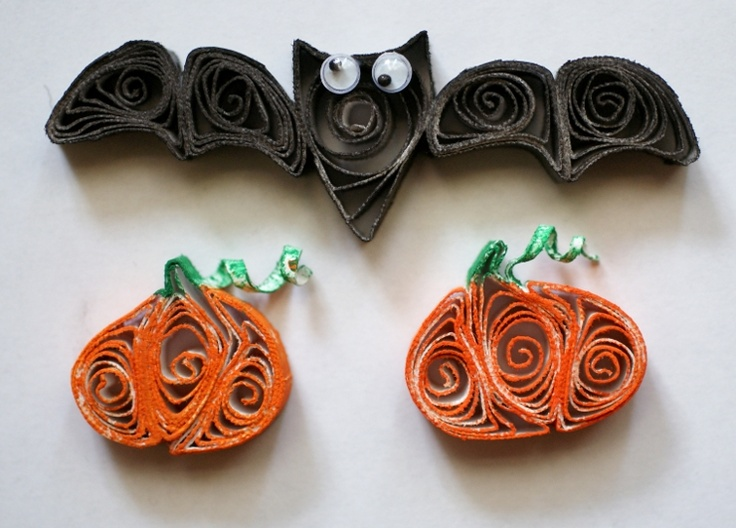 Images about paper quilling halloween fall on