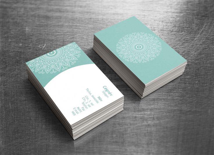 Mandala_Latest business card templates / Legújabb névjegykártya minta