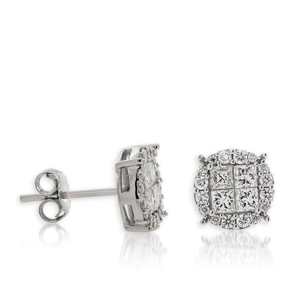 Diamond Earrings 14K White Gold $1799