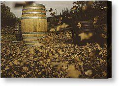 Fall In The Garden Canvas Print by Cesare Bargiggia