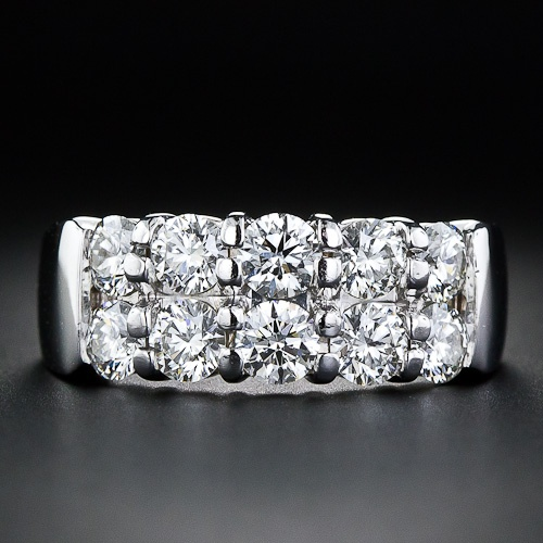 'Hearts on Fire' Contemporary Double Row Diamond Band Ring