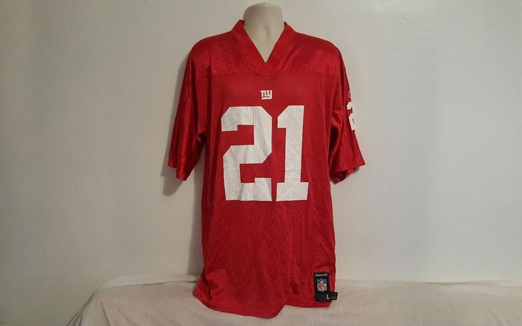 Mens #21 Tiki Barber New York Giants Red Edition NFL Jersey (Large) #Reebok #NewYorkGiants