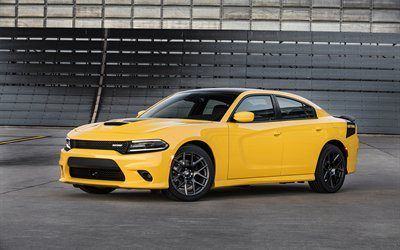Scarica sfond Dodge Charger Daytona, 2017, tuning, supercar, giallo caricabatterie