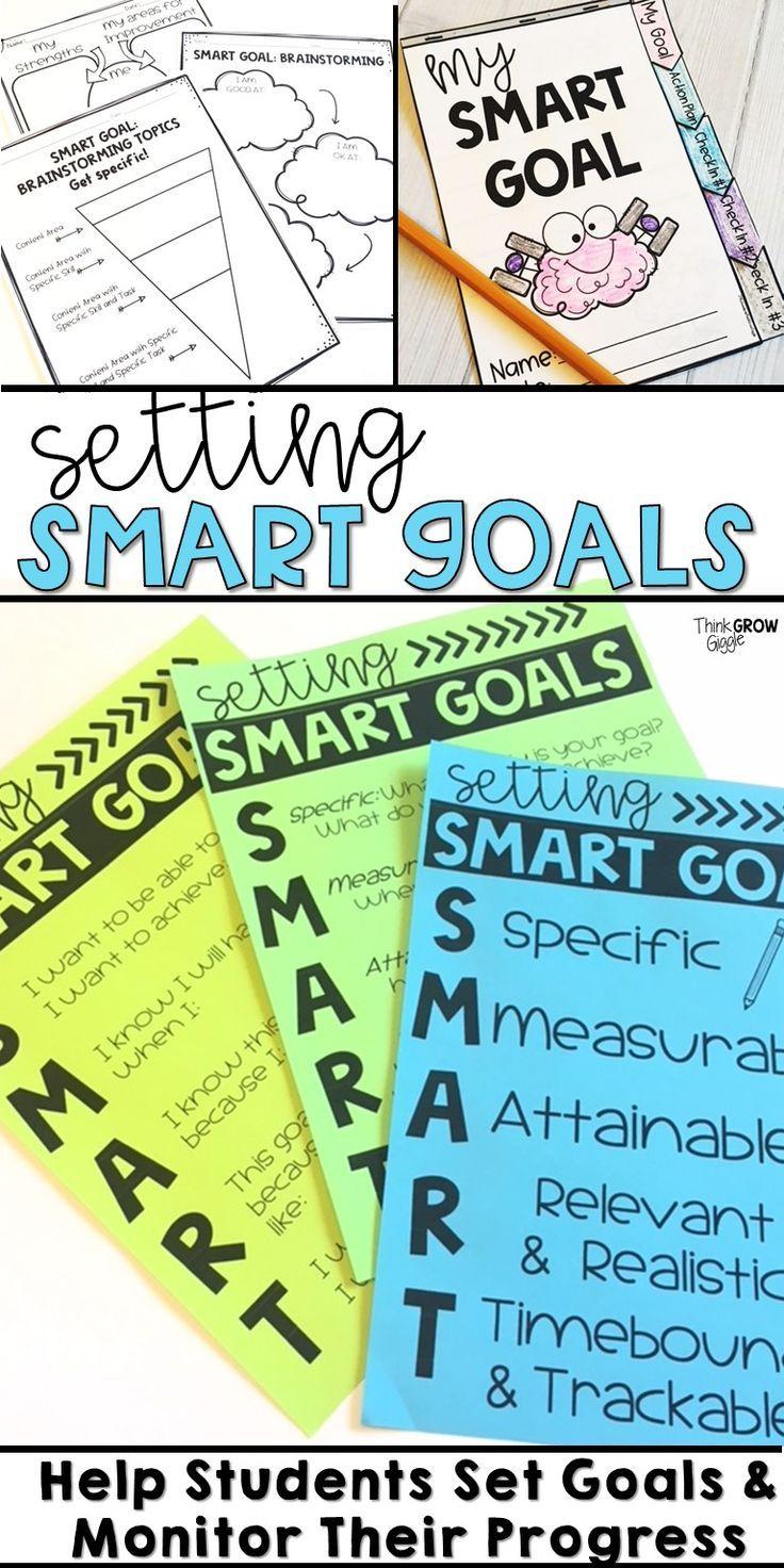 Student Smart Goal Setting Kindergarten Teaching Ideas Pinterest