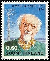 Ilmari Kianto portrayed on a postage stamp published in 1974.