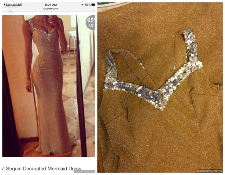 """Rosewe reviews """"I ordered the first dress pictured and"""