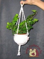 Makramé virágtartó - Ajándék