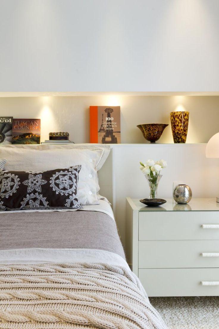 34 Ideias incríveis para decorar quartos pequenos #quarto #quartocasal #cabeceira #nicho