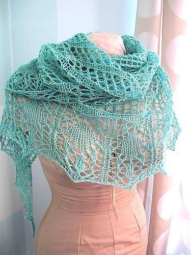 Glam Shells free shawl knitting pattern