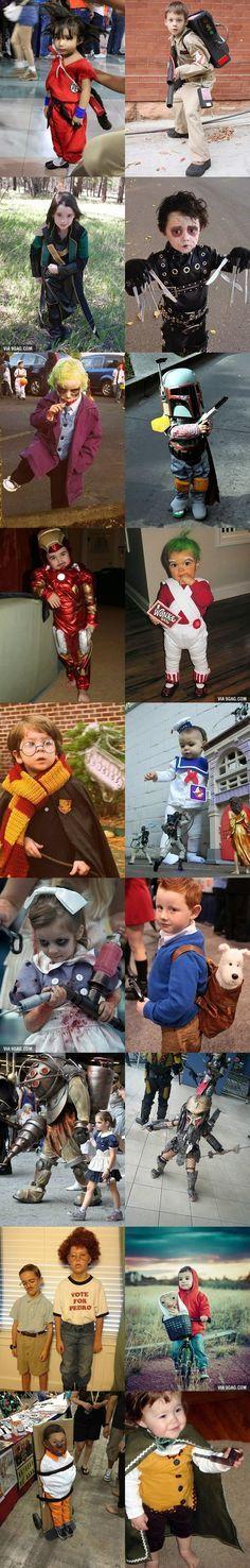 Les parents se sont surpassés pour déguiser leurs enfants en sangoku, ghostbuster, bilbo, joker, fantome, en ET et elliot,, tintin et milou, cute cosplay