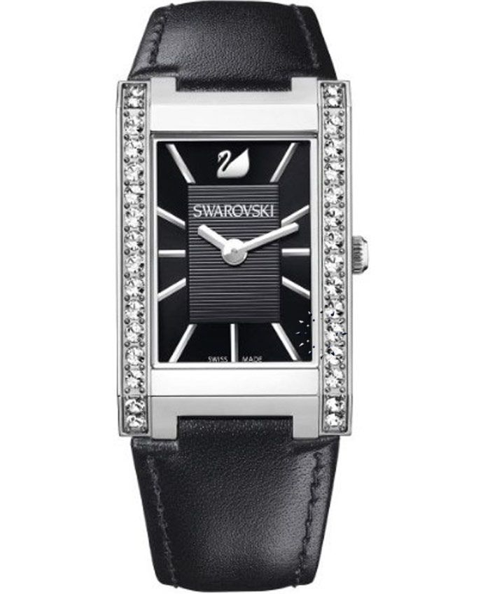 SWAROVSKI Citra Square Black Leather Strap Τιμή: 290€ Τιμή Προσφοράς: 232€ http://www.oroloi.gr/product_info.php?products_id=34468