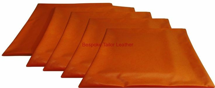 """Orange Cushion Covers Faux / Imitative / Leather look (Pack of 5 in 22"""")"""