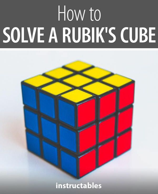 How To Solve A Rubik S Cube Rubiks Cube Cube Rubiks Cube Algorithms