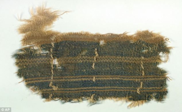 """Sacred blue snail dye seen only twice since Biblical times was discovered on Israeli cloth . The enigmatic blue colour is called """"tekhelet"""" It was used in clothing of the High Priest, but the dye was lost in antiquity The fabrics may have been part of the property belonging to Jewish refugees from the time of the Bar-Kokhba revolt of 132-135 AD"""