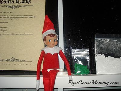 first night for Elf on the Shelf