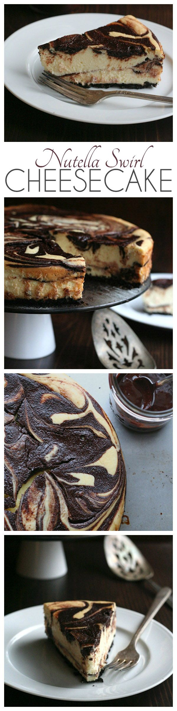 Low Carb Nutella Swirl Cheesecake