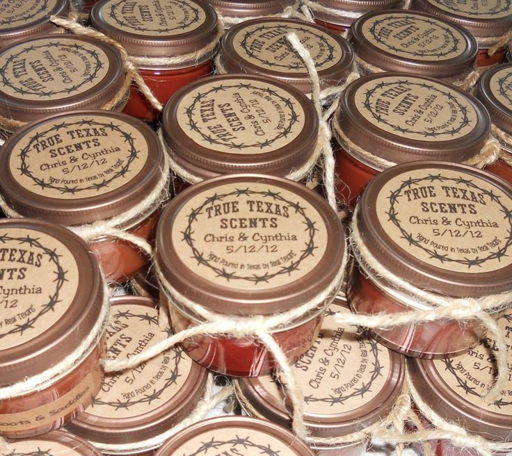 Western Style Wedding Favor Candles 50 4 Oz By Truetexasscents