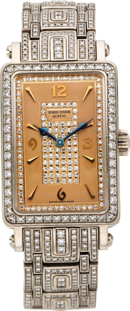 "Roger Dubuis Horloger Genevois Lady's Diamond, White Gold ""Much More"" Wristwatch, No 01/28, modern."