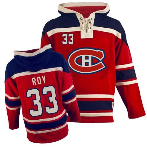 Patrick Roy Jersey-Buy 100% official Old Time Hockey Patrick Roy Men's Premier Sawyer Hooded Sweatshirt Red Jersey NHL Montreal Canadiens #33 Free Shipping.