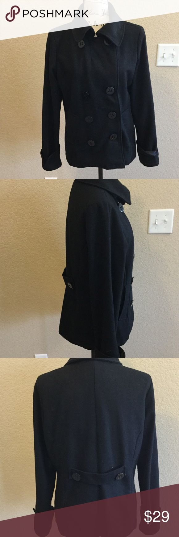 Black pea coat In great condition! Charlotte Russe Jackets & Coats Pea Coats