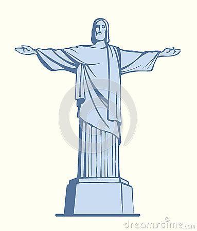 Christus de Verlosser, Rio de Janeiro, Brazilië EPS 10