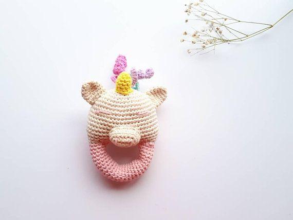 Sonaja de unicornio en crochet, sonajero de unicornio crochet ... | 428x570