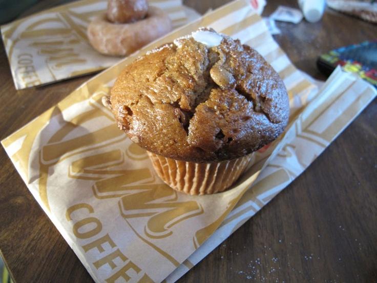 Tim Horton's pumpkin spice muffin, my favourite!!