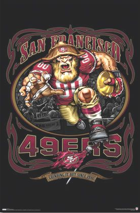 Forty Niners Logo | San Francisco 49ers NFL Football Team Logo Poster