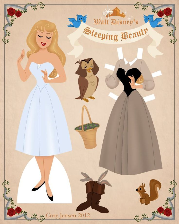 aurora paper doll 1 | paper dolls by cory