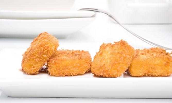 Receta de Croquetas de calabaza con salsa tonkatsu