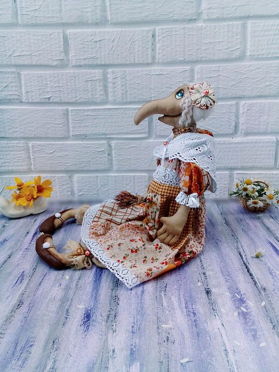 Interior Textile Art Doll Fabric Doll Collectible Rag Doll