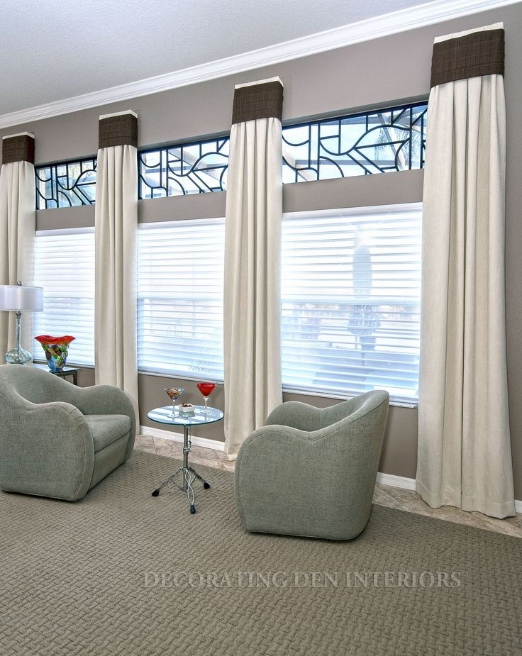 Custom window treatments designer curtains shades and Drapery treatments ideas