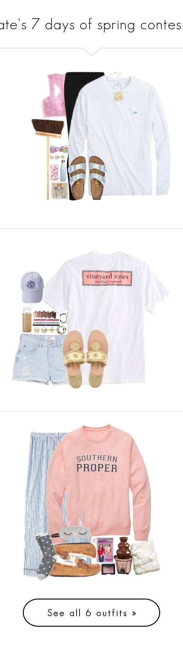 """""""kate's 7 days of spring contest!!"""" by sydneylawsonn ❤ liked on Polyvore featuring k7setsofspring, Free People, Donna Karan, Birkenstock, Jennifer Zeuner, Iris Hantverk, S'well, Lord & Taylor, Lilly Pulitzer and Kate Spade"""