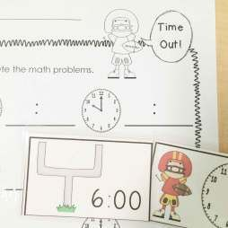 Football math centers: time